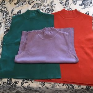 3 Dressbarn Sleeveless Sweaters XL & L